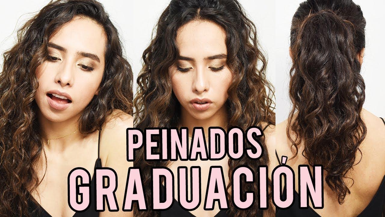 Peinados Para Graduacion Prom Cabello Rizado Largo Youtube