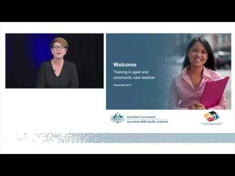 Training in aged and community care webinar, November 2015