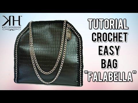 "TUTORIAL BORSA UNCINETTO ""Fab"" - DIY CROCHET BAG ● Katy Handmade"