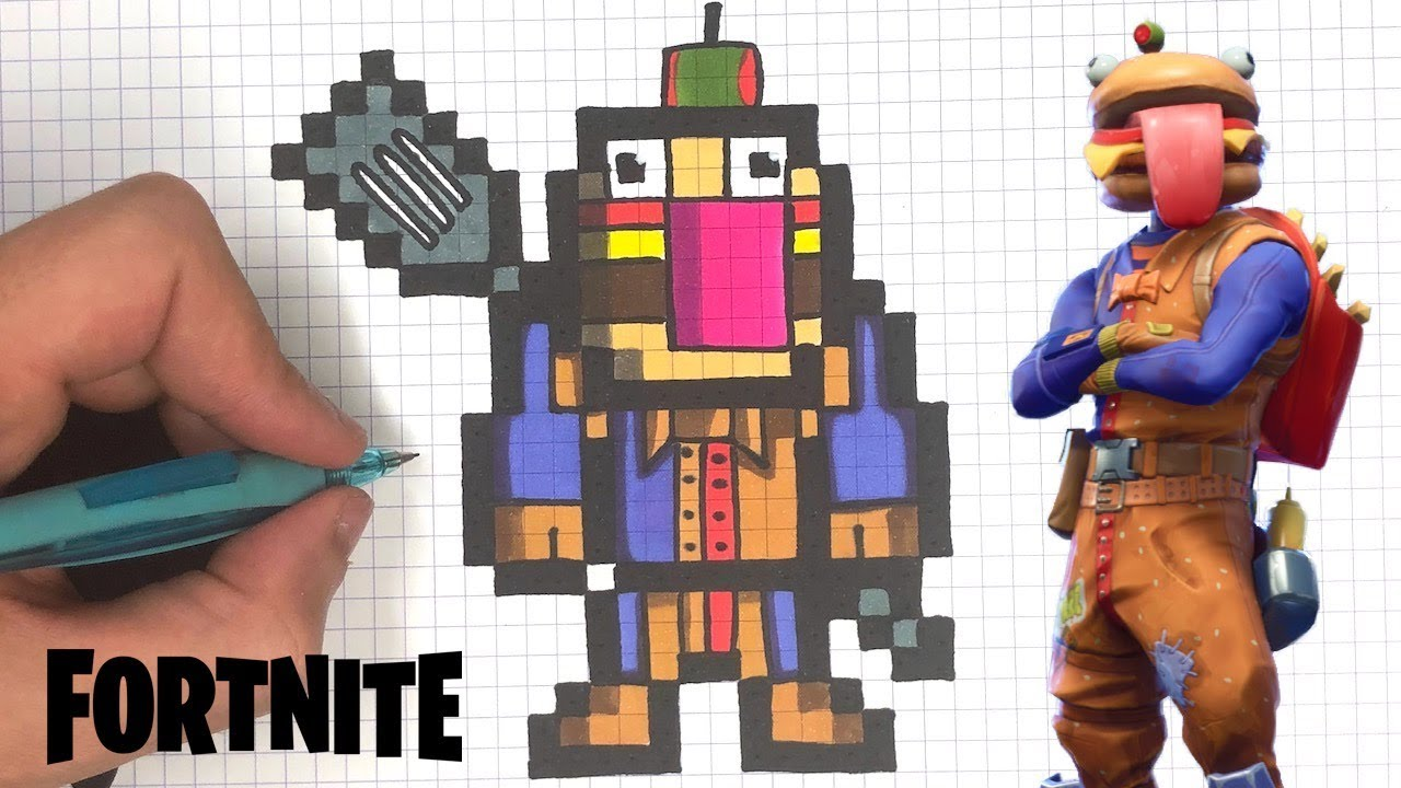 How To Draw Durr Burger Pixel Art Fortnite
