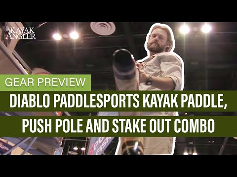 Diablo Paddlesports Kayak Paddle, Push Pole And Stake Out Combo | Kayak Fishing | Gear Preview