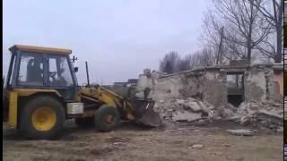 Wyburzanie starego domu i Wożenie gruzu 2016 JCB Pronar messy Ferguson 255