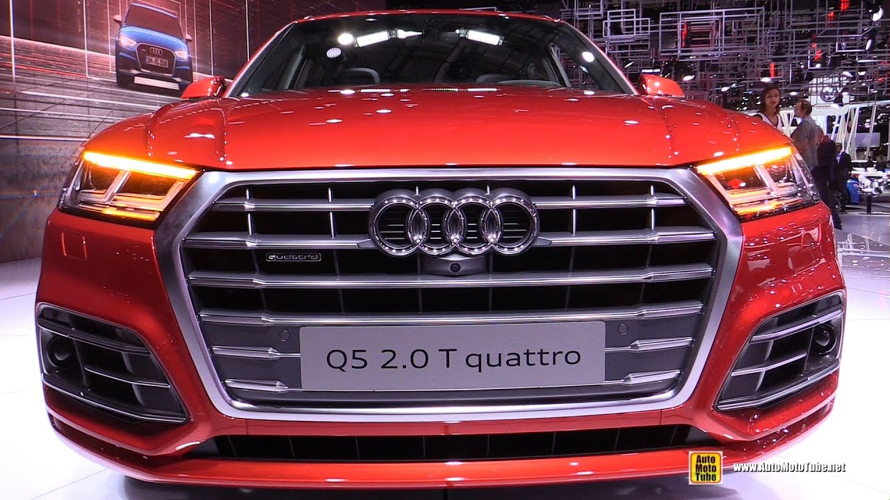 2017 audi q5 2 0t quattro s line exterior and interior walkaround debut at 2016 paris motor. Black Bedroom Furniture Sets. Home Design Ideas