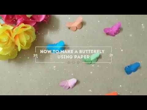 How to Make Butterfly Using Paper|| Arts and Crafts|| Easy Paper Hacks for Beginners