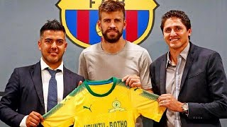 *spanish la liga champions barcelona will play a friendly against south african mamelodi sundowns in johannesburg on may 16 as part of celebrations...