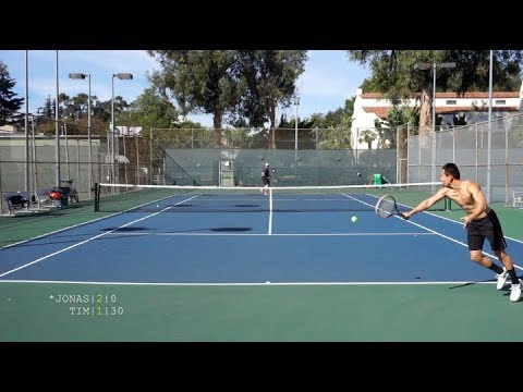 Tennis with Jonas - USTA 4.5 Singles Highlights HD