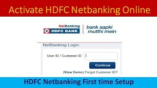 How to activate HDFC Bank Internet banking - Step by Step hdfc netbanking guide