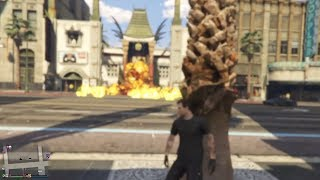 massive crowd of dumb npcs gets OBLITERATED in gta online