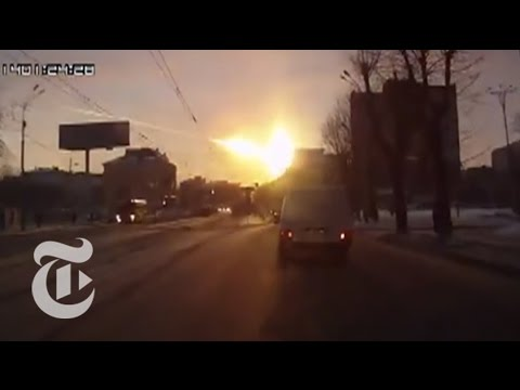Meteor Hits Russia, With Debris Blanketing Siberia: Fire in the Russian Sky | The New York Times