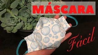 Como Fazer Máscara 3D de Tecido com Molde Fácil de Fazer