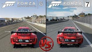 Forza 7 Vs Forza 6 - Audi R8 @ Laguna Seca - Graphics & sounds Comparison