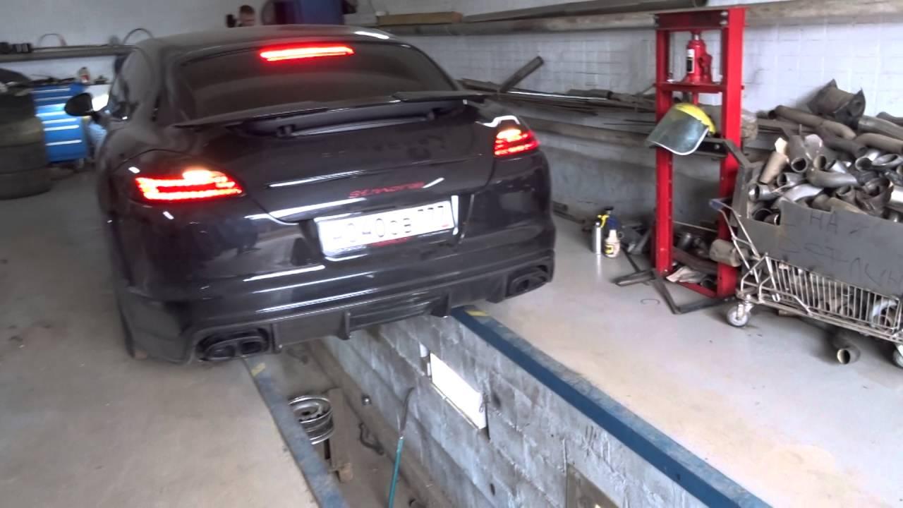 Переделка выхлопной системы Porsche Panamera