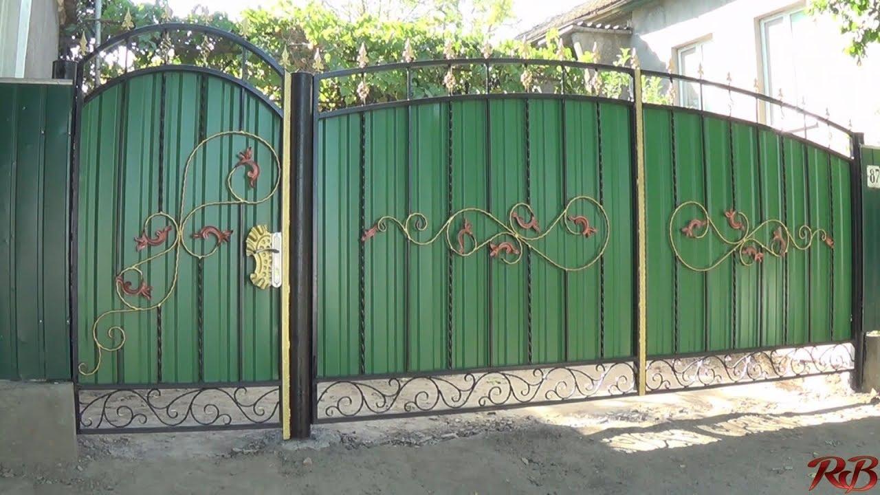 Ворота и калитки своими руками: их виды - Профнастил 52