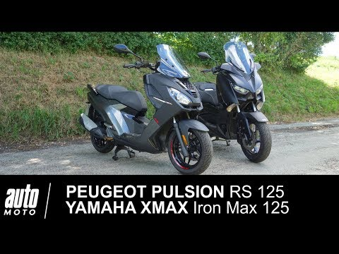 Match PEUGEOT PULSION RS 125 vs YAMAHA XMAX Iron Max 125 Auto-Moto.com