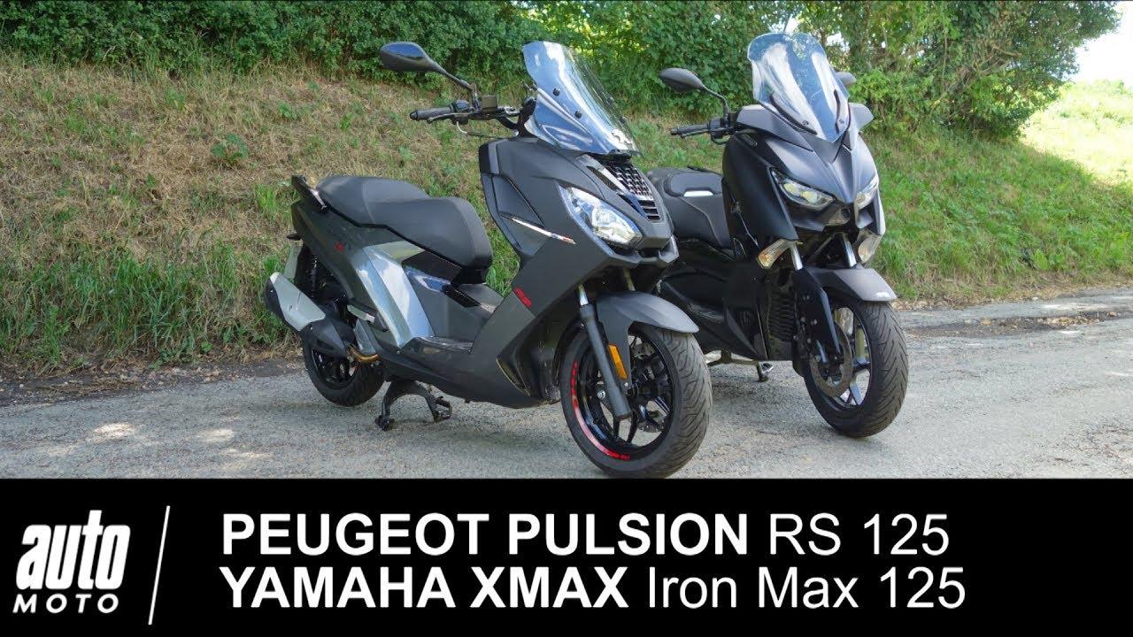 Match Peugeot Pulsion Rs 125 Vs Yamaha Xmax Iron Max 125 Auto Moto Com