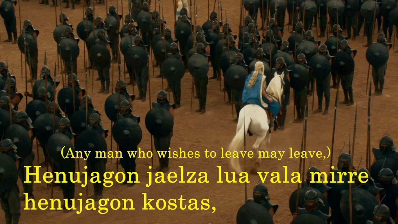 3x04 Game of Thrones Valyrian Subtitles for Daenerys's speech