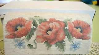Как вышивать бисером готовый клатч?