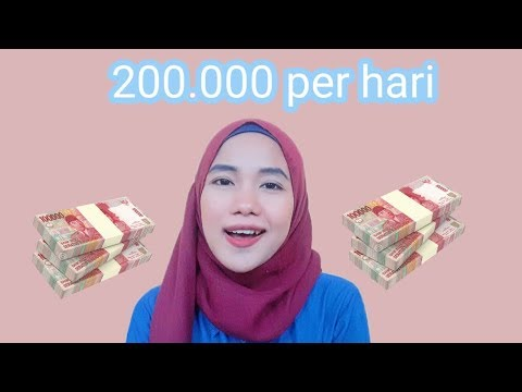 Dapat 200 ribu perhari| cara dapat uang tambahan dari aplikasi kerja online 2020|elda pertiwi