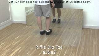 Riffle Dig Toe Tap Dance Move Shown by Rod Howell