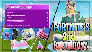 Brand NEW Fortnite 2nd BIRTHDAY CHALLENGES! | All New Rewards!