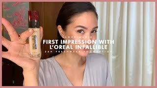 FIRST IMPRESSIONS: L'ORÉAL 24HR INFALLIBLE FRESH WEAR FOUNDATION (FEAT. TEVIANT) | Heart Evangelista