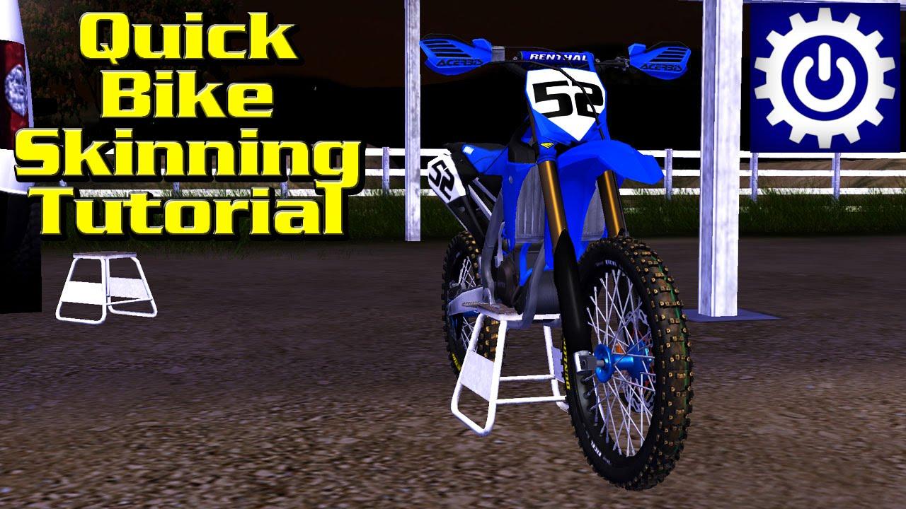 Mx Simulator Tutorial Quick Bike Skinning Youtube