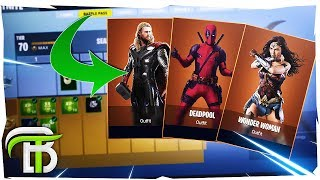 'TOP 5' FORTNITE SEASON 4 SUPERHEROES - VILLAIN SKIN CONCEPTS (Fortnite Saison 4)