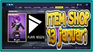 | FORTNITE NL/BE | ITEM SHOP 13 janeiro 2019 | * New * LACE & PARADOX Skins (inglês)