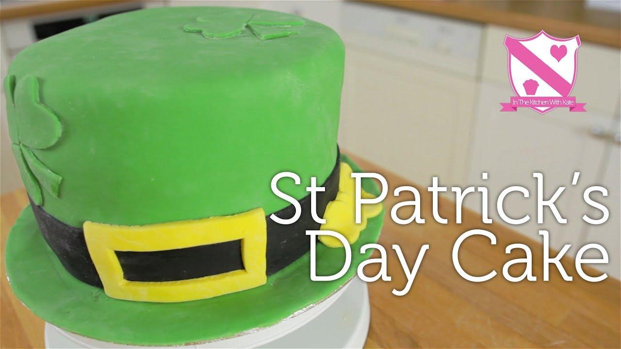 St Patrick S Day Cake Hummingbird Three Layer Vanilla Sponge Cake Youtube