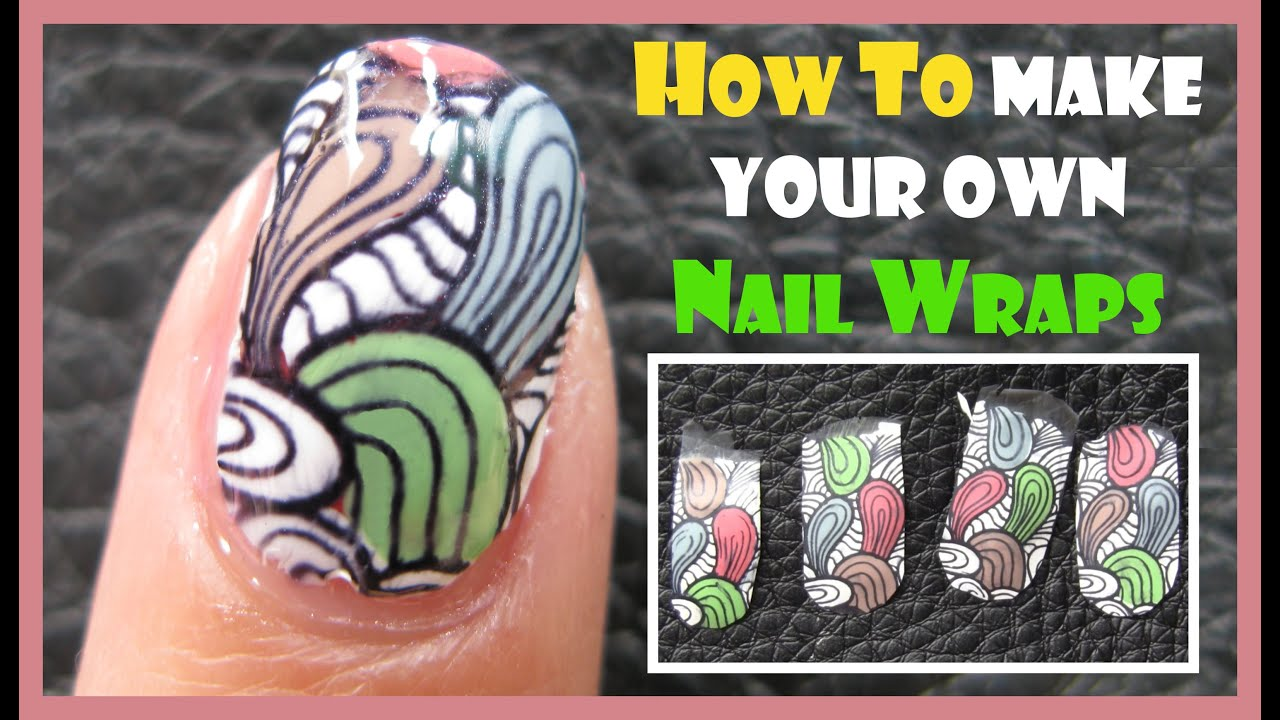 HOW TO MAKE YOUR OWN NAIL WRAPS OR NAIL ART STICKERS CREATE STAMPING ...