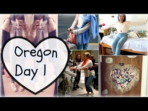 Vlog 16: Ashland, Oregon Day 1| Newspaper Outfit| Door Deco| Friends