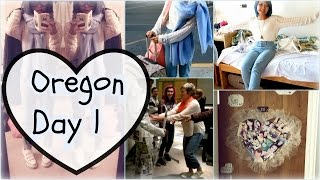 Vlog 16: Ashland, Oregon Day 1| Newspaper Outfit| Door Deco| Friends