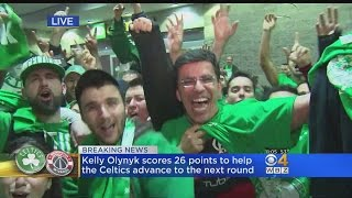 Celtics Fans Celebrate Game 7 Win Over Wizards