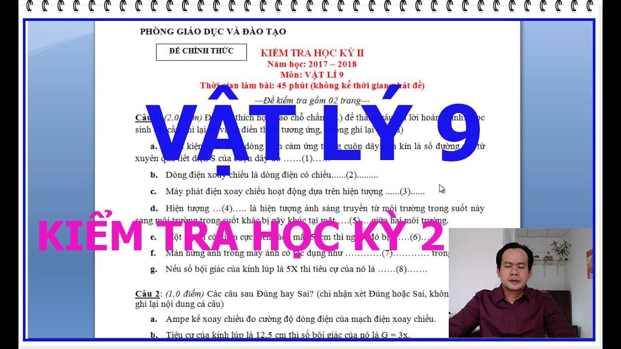 VẬT LÝ 9 kiểm tra học kỳ 2 [đáp án + đề thi vật lý 9] hướng dẫn chi tiết chương quang học vật lý 9