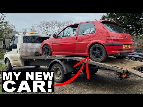 I Bought The *UK'S CHEAPEST CHERRY RED PEUGEOT 106 GTI!*