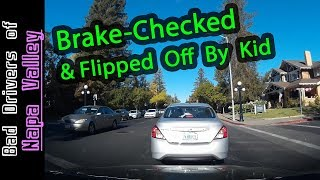 Angry Mother Gets Offended By A Honk - Her Child Flips Me Off