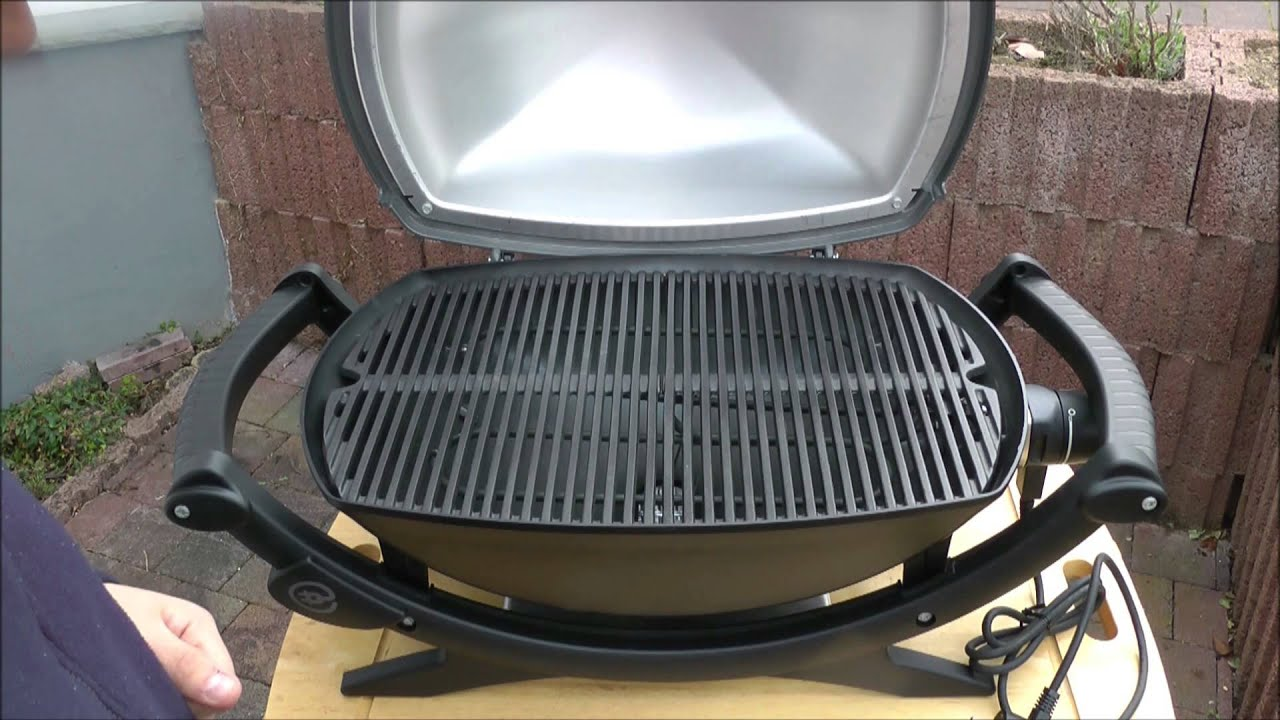 der weber q240 elektrogrill unboxing und erkl rung youtube. Black Bedroom Furniture Sets. Home Design Ideas