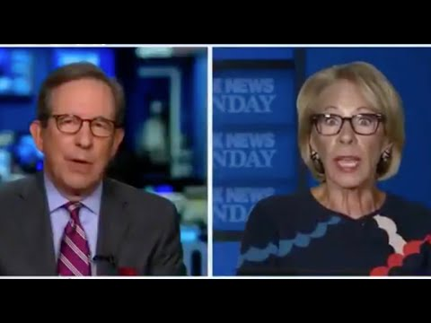 Chris Wallace RIPS DeVos for trying to illegally cut off funding to schools that don't re-open