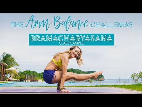 Arm Balance Yoga Challenge Class 5, L-sit, Core Strength on Omstars Sample