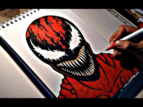 How To Draw Carnage Youtube