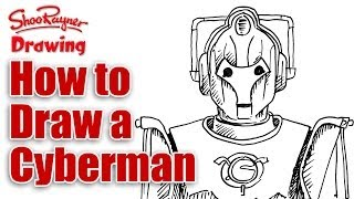How to Draw a Cyberman from Doctor Who - Spoken Tutorial