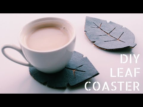 DIY - Fall Leaf Coasters