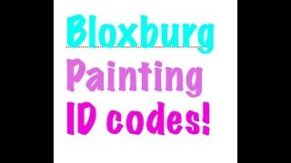 UnicornDonutz // 7 Painting ID codes for Bloxburg (Roblox)
