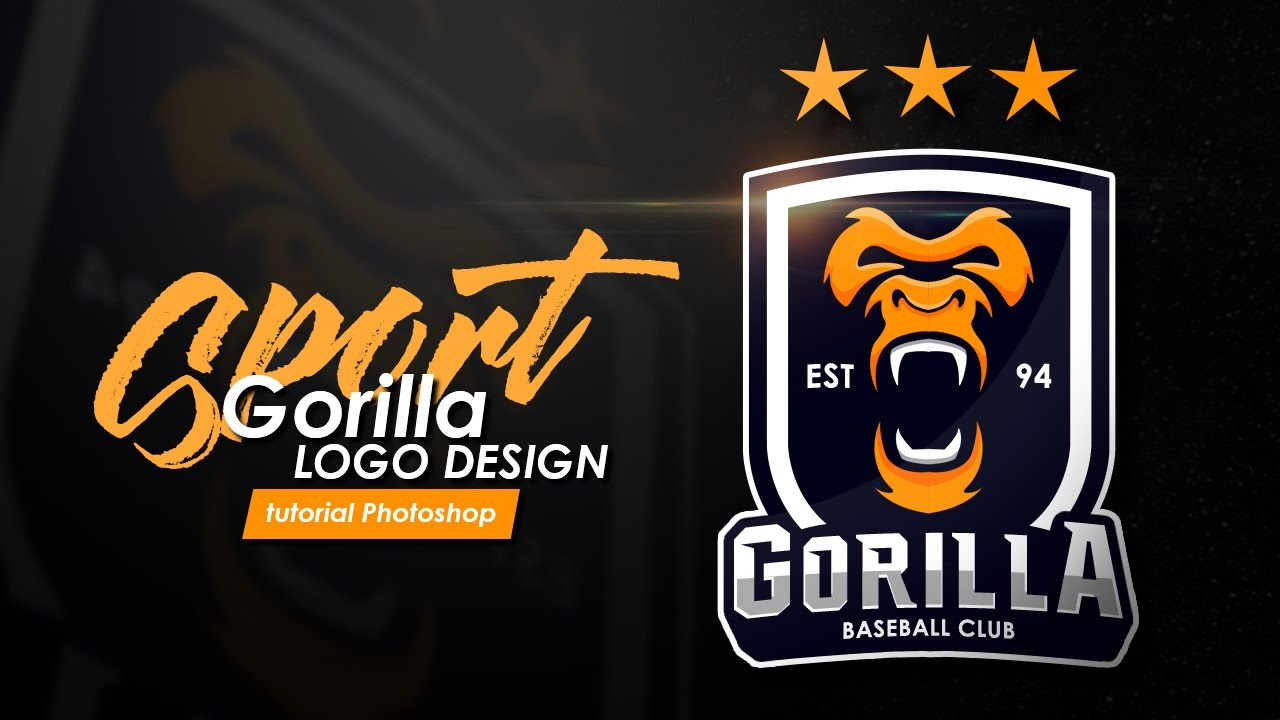 How to design a sports logo gorilla logo tutorial for Design lago