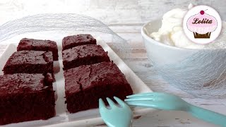 Receta: Brownies De Red Velvet Con Chocolate