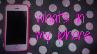 WHAT'S IN MY IPHONE | Giorgia World