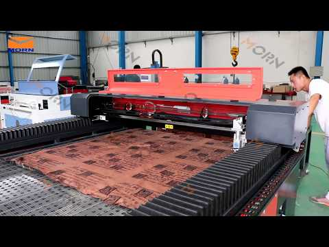 How to use mix laser cutting machine with auto-feeding  both for metal and nonmetals   MORN LASER