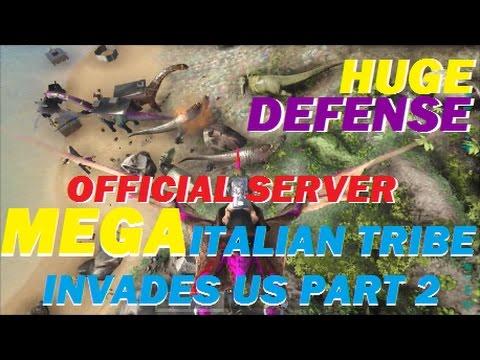 Ark Survival Evovled Huge Official Server Defense 462 - Server Invasion - Ark Official Server Part 2