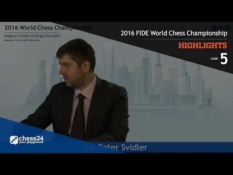 2016 FIDE World Chess Championship - Highlights - Game 5
