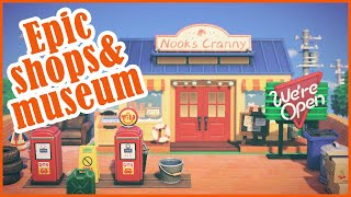 Epic Museum and Shops - design ideas in Animal Crossing New Horizons || acnh
